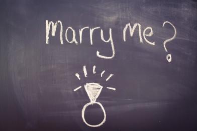 Antragsring und Verlobungsringe