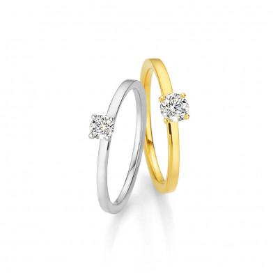 Gelbgold und Weissgold Ring