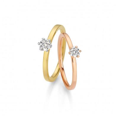 Verlobungsringe in Gelbgold oder Rotgold